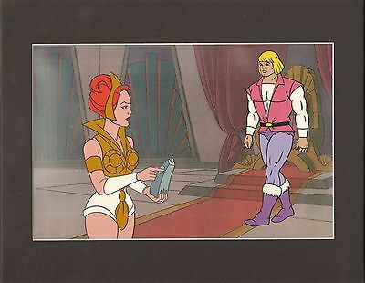HE-MAN Masters of the universe Original Production Animation Art Cell setup 2*