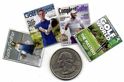 4 Miniature  'Golf'  Magazines  -  Dollshouse  1:12 scale