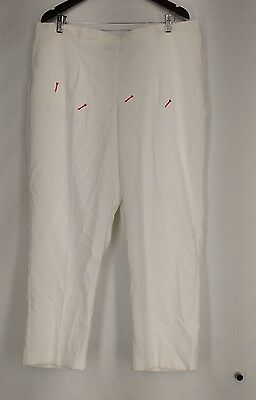 Alfred Dunner Plus Size Pants 20W Stretch Waist Corduroy White NEW 2nd
