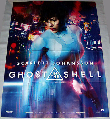 GHOST iN THE SHELL Scarlett Johansson Sci-fi Cyborg Japan LARGE French POSTER #2