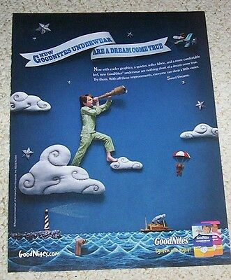 2010 print AD PAGE - Goodnites bedwetting diaper underwear lighthouse boy ADVERT