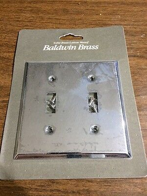 Quality Chrome Plated Heavy Brass Dual Double Light Switch Cover New In Blister