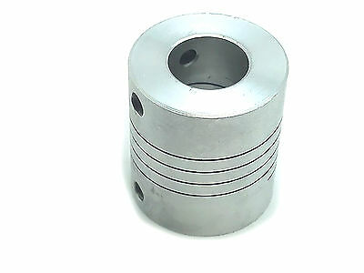 "10 x 12.7mm 1/2"" Flexible Shaft Coupling Rigid CNC Stepper Motor Coupler D25 L30"