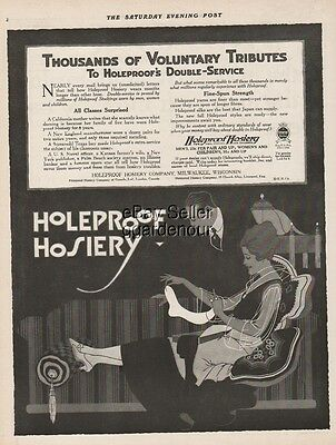 1916 Holeproof Hosiery Milwaukee WI Women s Stockings Fashion Print Ad