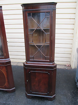 56395   Mahogany Inlaid Corner China cabinet Curio