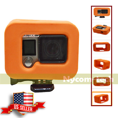 Orange Floating Floaty Case Cover Protective Box for GoPro Hero 3+ 4 Accessory