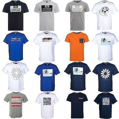 Weekend Offender T Shirts Multi Prison Crew Neck Trainers Football Casuals