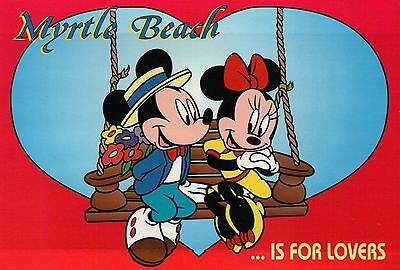 """"""" Disney """" - Postcard of the Month Club 1-Year Subscription Christmas Gift Idea"""
