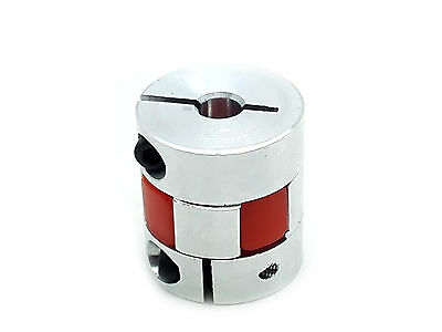 "6.35 1/4"" x 6.35mm 1/4"" CNC Flexible Plum Coupling Shaft Coupler Connect D25 L30"