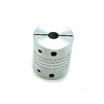"6.35 x 12.7mm 1/4"" x 1/2"" Flexible Shaft Coupling Rigid CNC Coupler D25mm L30mm"