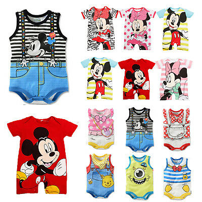 Newborn Toddler Baby Kid Boy Girl Cotton Romper Jumpsuit Bodysuit Clothes Outfit