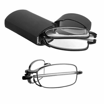 Unisex Fashion Folding Foldable Reading Glasses Rotation Eyeglass +1.0~+4.0