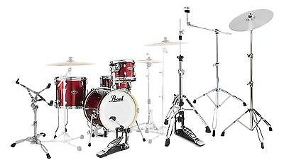 Pearl Midtown Shellset Black Cherry Glitter Set Hardware Pack Schlagzeug Ständer