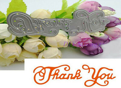 Metal Thank You Cutting Dies DIY Album Scrapbook Embossing Crafts Card Decor