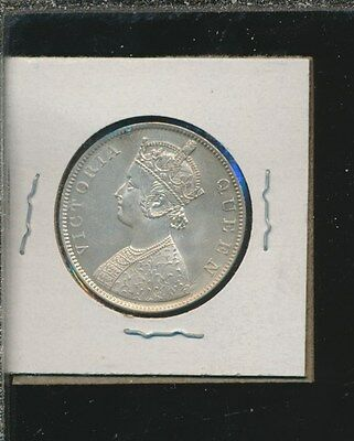 India - British Rupee Silver 1862 - Very Lusterous