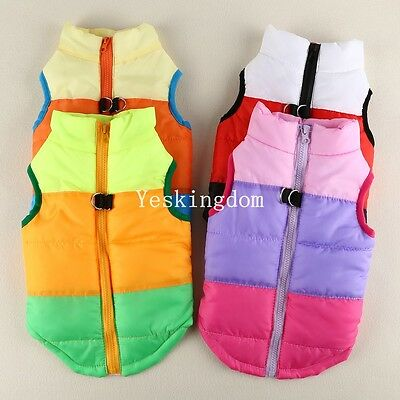 Pet Cat Dog Puppy Soft Padded Vest Warm Coat Clothes Jacket Hoodie Jacket
