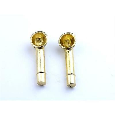 Aero Naut Brass Cowl Vents 7 x 19mm Vents Pack of 2 For Model Boats