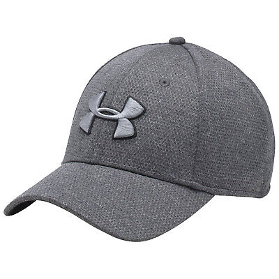 Under Armour Mens Heather Blitzing Cap - New UA Stretch Sports Running Golf Hat