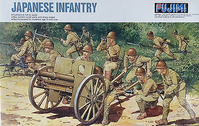 FUJIMI 76030 WWII Japanese Infantry w/Gun in 1:76
