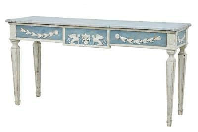 19Th Century Gustavian Influenced Painted Console Table