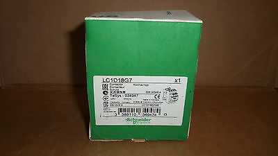 New Schneider Electric LC1-D18G7 Contactor Starter 15HP 32 Amp 600v 120v AC Coil