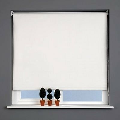 Sunlover THERMAL BLACKOUT Roller Blinds. CREAM. Sizes 60cm to 240cm