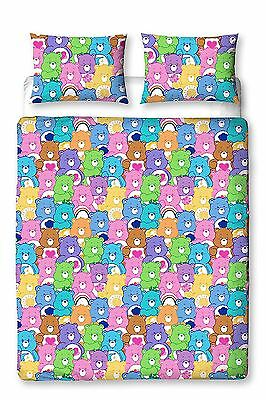 Care Bears Hugs Double Bed Duvet Cover Quilt Cover & Pillowase Set
