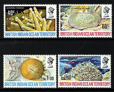 BRITISH INDIAN OCEAN TERRITORY 1972 The Complete Coral Set SG 41 to SG 44 MINT