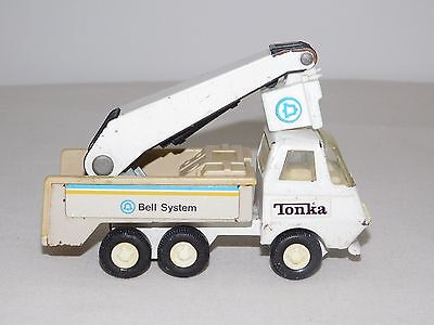 "Vintage Toy 6"" Long Tonka Bell Telephone System Metal Bucket Truck"