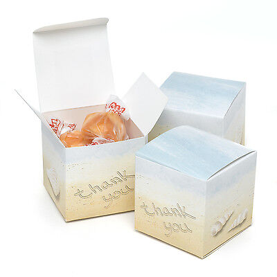 seaside jewels beach theme wedding bridal shower favor boxes 25pk