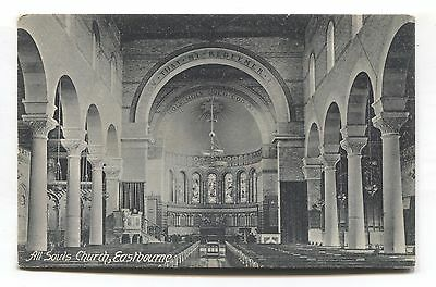 Eastbourne - All Souls Church interior - early Sussex postcard