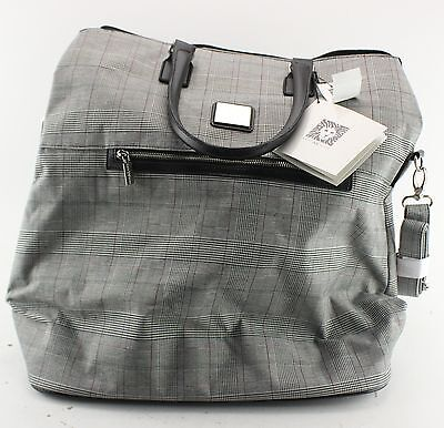 New With Tags Women's ANNE KLEIN Gray Tote Travel Bag Size XL
