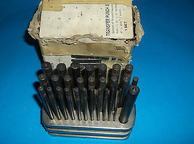 "28 pc 3/32""-1/2""Transfer Punch Set Steel Toolmaker Machinist Thread Tool Kit Set"