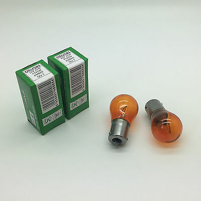 2 x Eurolec 581 PY21W BAU15S Amber Front & Rear Indicator Car Light Bulb 12v 21w