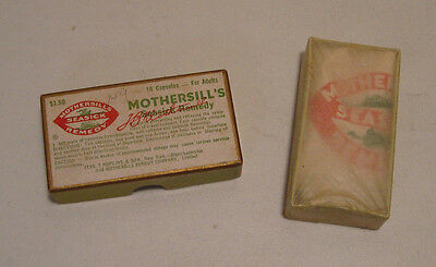 "Vintage Medicine: Mothersill's Seasick Remedy 16 Capsules in 3"" box, sealed !"