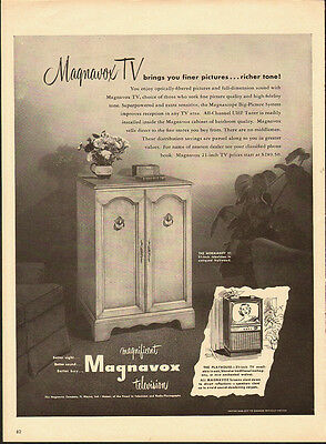 1953 Vintage ad for Magnavox Television/TV/The Normandy 21 (042913)