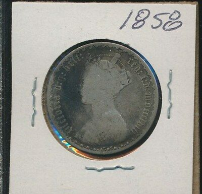 Great Britain  - Silver Florin - Gothic 1858