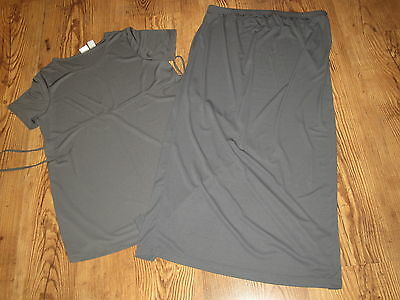 IN DUE TIME Gray top and skirt- Skirt is XL and top is L