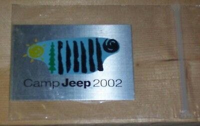 Camp Jeep 2002 Dash Plaque new in packaging