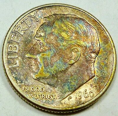 1960 United States Roosevelt Dime BU Brilliant Uncirculated - Toned