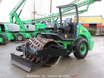 """2008 JCB Vibromax VM46PD 56"""" Smooth Drum Roller Compactor w/ Padfoot Shell Kit"""