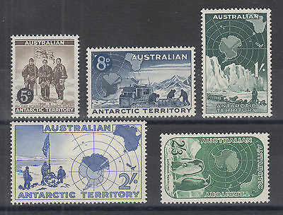 Australian Antarctic Territory Sc L1-L5 MNH. 1957-59 First Issue complete, VF