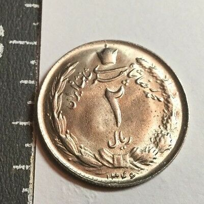 MIDDLE EAST KM1173 SH1346 2 Rial  coin Nice uncirculated