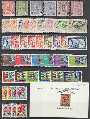 Salvador Sc 674//C192a MLH. 1955-1960 issues, 8 complete sets, F-VF