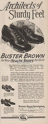 1927 BUSTER BROWN Shoe Co St. Louis MO-Girls/Boys Shoes 1920s Print Ad