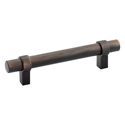 "25x EURO LOOP STYLE 3-3/4"" CENTERS OIL-RUBBED BRONZE CABINET PULL HANDLE 5-3/8"""