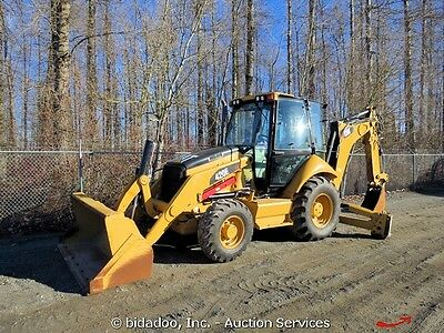 2011 Caterpillar 420E 4x4 Backhoe Wheel Loader Cab Tractor E-Stick A/C Aux Hyd