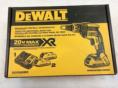DEWALT DCF620D2 20V CORDLESS BRUSH-LESS SCREWGUN LI-ION 2.0Ah SCREW GUN (new)