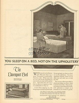 1925 Davenport Bed Couch Sleeper Sofa - Home Decor Furniture Chicago IL Ad