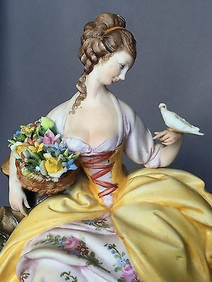 Antique Italian Bisque Cappe Capodimonte Dresden Lady Figurine Figure Doll Italy